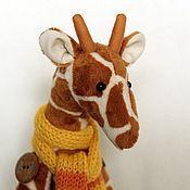 Куклы и игрушки ручной работы. Ярмарка Мастеров - ручная работа Тильда Жираф средний. Handmade.