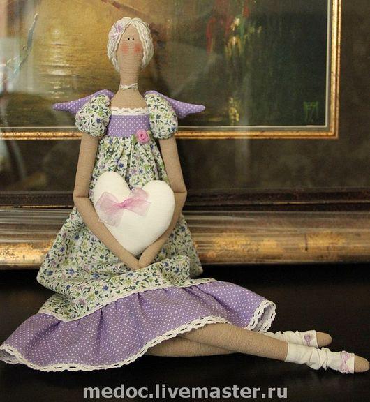 Куклы Тильды ручной работы. Ярмарка Мастеров - ручная работа. Купить Романтичный ангел. Handmade. Тильда, лён