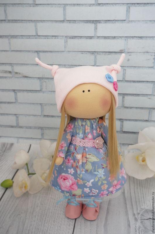 Коллекционные куклы ручной работы. Ярмарка Мастеров - ручная работа. Купить Интерьерная текстильная кукла. Handmade. Голубой, tilda, нежность