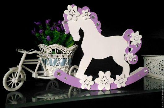 Детская ручной работы. Ярмарка Мастеров - ручная работа. Купить Метрика-лошадка. Handmade. Сиреневый, фиолетовый, лошадка, лошадка-качалка