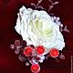 Заколки ручной работы. Заколка для волос со съемными ягодками. Наталья Fox Казакова (fleur-style). Ярмарка Мастеров. Красный