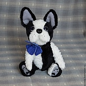 Куклы и игрушки ручной работы. Ярмарка Мастеров - ручная работа Молли бостонский терьер. Handmade.
