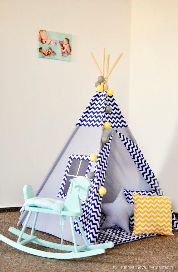 Nursery handmade. Livemaster - handmade. Buy Wigwam for boys!.Baby, house, natural materials, toy house, wigwam kids