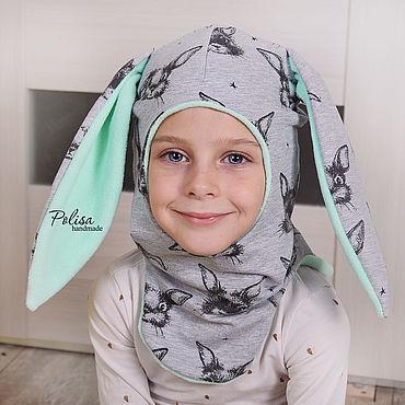 Одежда ручной работы. Ярмарка Мастеров - ручная работа Шапка шлем Зайка на флисе. Handmade.