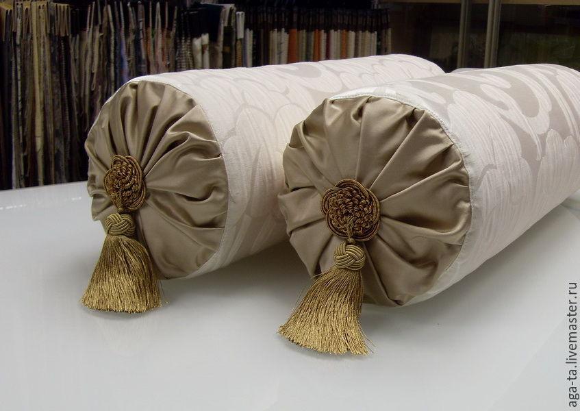 Как сшить подушку валик своими руками? Выкройки для разных 54