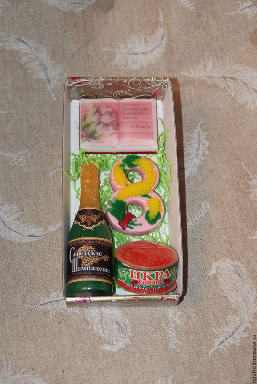 Персональные подарки ручной работы. Ярмарка Мастеров - ручная работа. Купить Набор 8 марта с шампанским. Handmade. Комбинированный