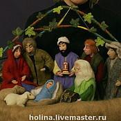 Куклы и игрушки ручной работы. Ярмарка Мастеров - ручная работа Рождественский вертеп. Handmade.