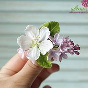 Украшения handmade. Livemaster - original item Brooch with lilac and Apple tree