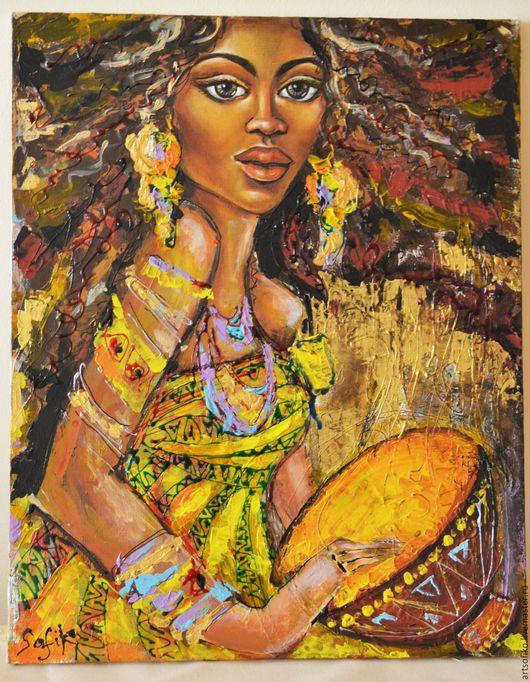 *Танцующая африканка* Размер 40*50