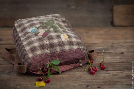 Женские сумки ручной работы. Ярмарка Мастеров - ручная работа. Купить сумочка Осенний букет. Handmade. Коричневый, тактильный, апликация