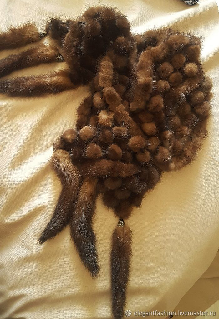 Genuine mink. scarf tippet, Vintage accessories, Moscow,  Фото №1