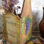 Для дома и интерьера ручной работы. Ярмарка Мастеров - ручная работа Короб для бутылки Виноград. Handmade.