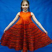 """Одежда ручной работы. Ярмарка Мастеров - ручная работа Сарафан для девочки валяный """"Закат над морем"""".. Handmade."""