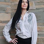 Одежда handmade. Livemaster - original item Stylish cotton blouse