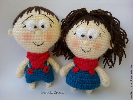 Человечки ручной работы. Ярмарка Мастеров - ручная работа. Купить Кукла крючком, пупсики. Handmade. Пупс, детям, карманная игрушка