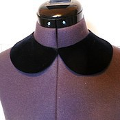 Аксессуары handmade. Livemaster - original item The collar is detachable velvet black universal. Handmade.