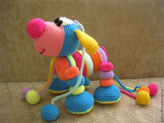 Игрушки животные, ручной работы. Ярмарка Мастеров - ручная работа. Купить Лошарик. Handmade. Разноцветный, нитки акрил