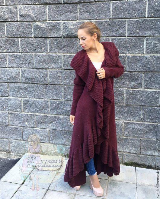 Верхняя одежда ручной работы. Ярмарка Мастеров - ручная работа. Купить Пальто. Handmade. Фиолетовый, мохер