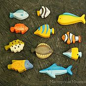 Куклы и игрушки ручной работы. Ярмарка Мастеров - ручная работа Морские рыбы. Набор 11 фигурок. Handmade.