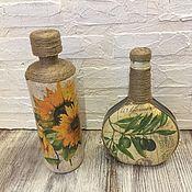 Посуда handmade. Livemaster - original item Oil bottles in decoupage technique. Handmade.