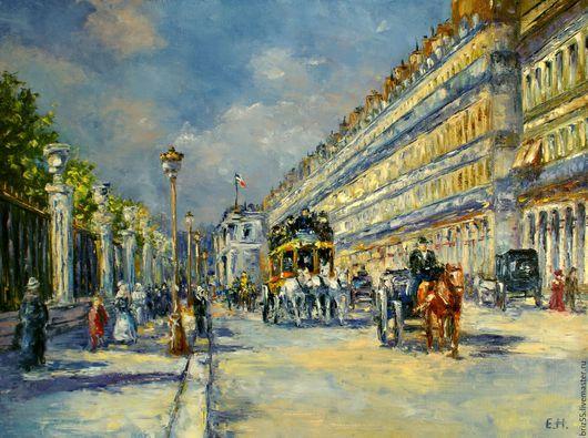 Город ручной работы. Ярмарка Мастеров - ручная работа. Купить Картина маслом Париж. Handmade. Картина в подарок, картина маслом
