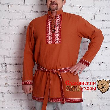Clothing handmade. Livemaster - original item Men`s shirt Brown bear. Handmade.