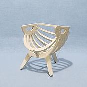 "Куклы и игрушки handmade. Livemaster - original item Furniture for dolls-Doll chair "" Shell"". Handmade."