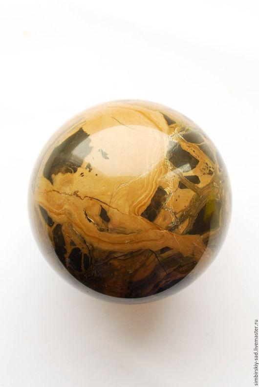 Статуэтки ручной работы. Ярмарка Мастеров - ручная работа. Купить №97 Сенгилитовый шар.. Handmade. Хаки, каменный