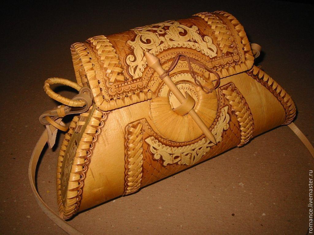 Купить сумка из бересты Русская Красавица - бежевый, Экосумка, сумка из бересты, подарок женщине