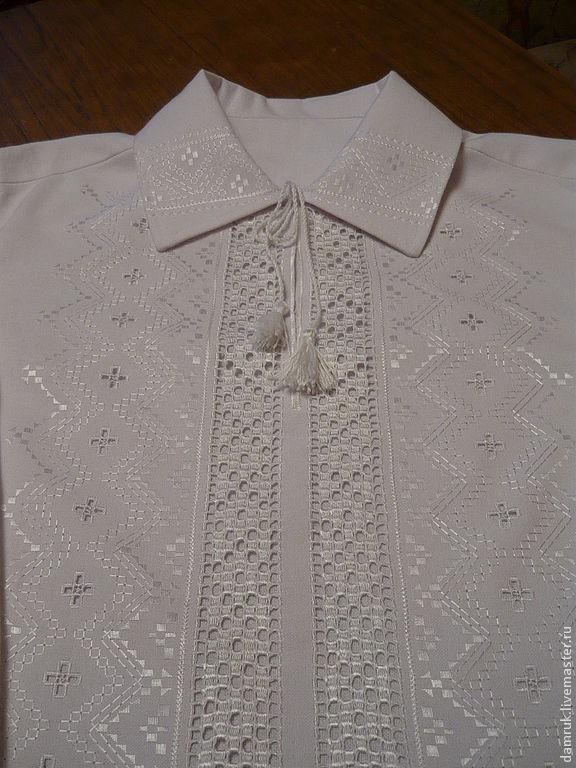 Вышивка белым по белому сорочка
