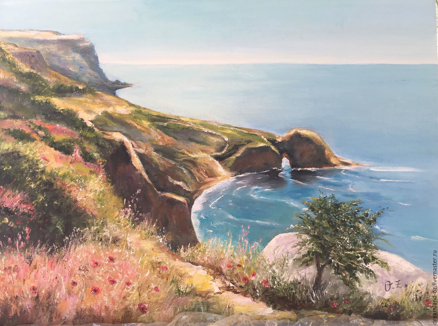 Oil painting ' Summer vacation', Pictures, Vladivostok,  Фото №1