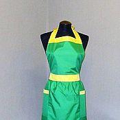 Для дома и интерьера ручной работы. Ярмарка Мастеров - ручная работа фартук-передник  женский из плащевки дюспо зелёный. Handmade.