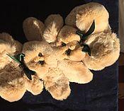 Мягкие игрушки ручной работы. Ярмарка Мастеров - ручная работа Зайки близнецы Игрушки из натурального меха. Handmade.