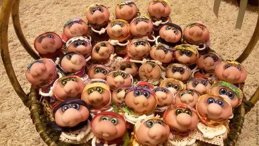 Народные куклы ручной работы. Ярмарка Мастеров - ручная работа. Купить Хозяюшка-благополучница. Handmade. Желтый, подарок, стеклянные глазки