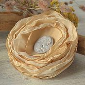 Украшения handmade. Livemaster - original item Brooch hairpin made of fabric cameo. Handmade.