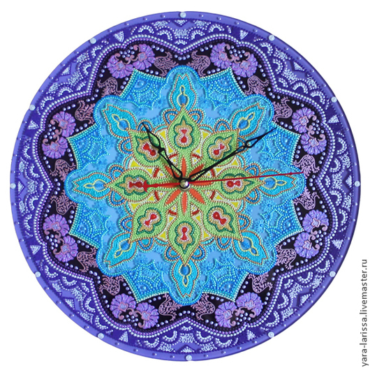 """Часы для дома ручной работы. Ярмарка Мастеров - ручная работа. Купить """"Мандала света"""" часы настенные интерьерные. Handmade."""
