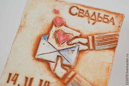 Свадебные аксессуары ручной работы. Ярмарка Мастеров - ручная работа. Купить Письмо-приглашение. Handmade. Оранжевый, свадьба, приглашения на свадьбу