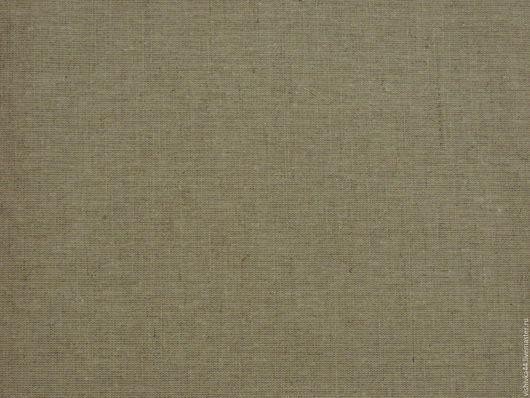 Шитье ручной работы. Ярмарка Мастеров - ручная работа. Купить Ткань Лен хлопок натуральный светло-серый плотный №30. Handmade.