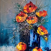 """Картины и панно ручной работы. Ярмарка Мастеров - ручная работа """"Маки с яблоками"""". Handmade."""