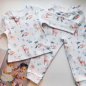Одежда ручной работы. Ярмарка Мастеров - ручная работа Пижама «Оленята». Handmade.