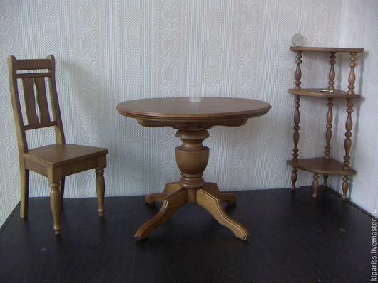 Кукольный дом ручной работы. Ярмарка Мастеров - ручная работа. Купить столовая мебель. Handmade. Кукольная мебель, из сосны, стулчик