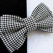 Аксессуары handmade. Livemaster - original item Tie Black and white Foot. Handmade.