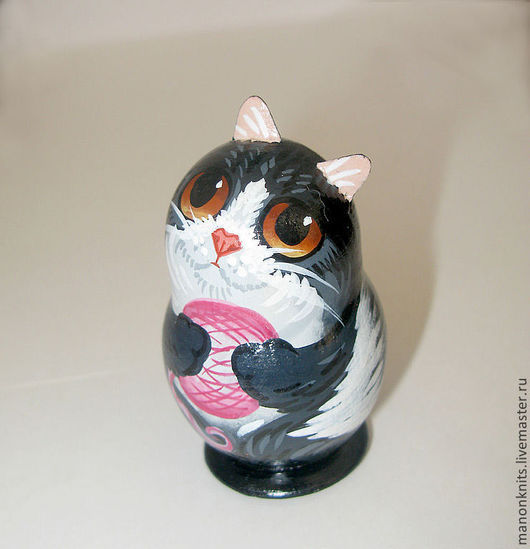 Статуэтки ручной работы. Ярмарка Мастеров - ручная работа. Купить Кот с клубком сувенир. Handmade. Сувенир, кот, коты и кошки