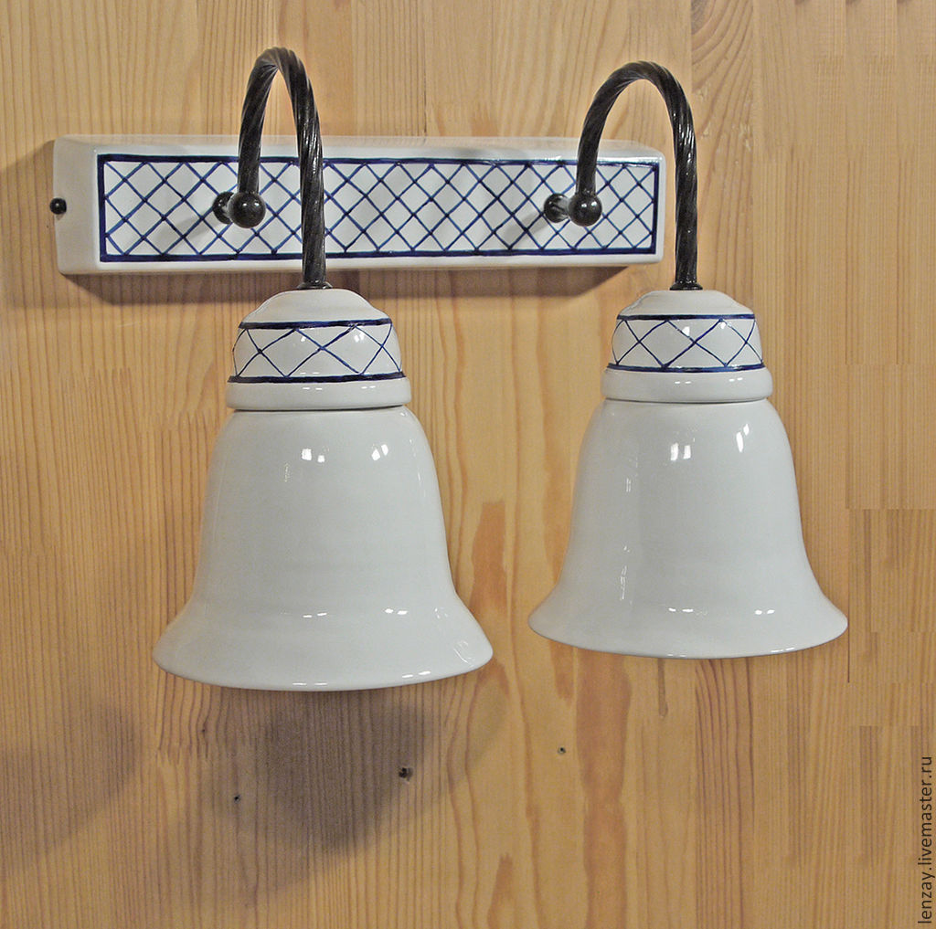 Italian retro double wall lamp in the bathroom, Wall lights, Moscow,  Фото №1