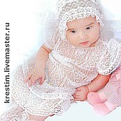 Работы для детей, handmade. Livemaster - original item Lace dress for girls. Handmade.
