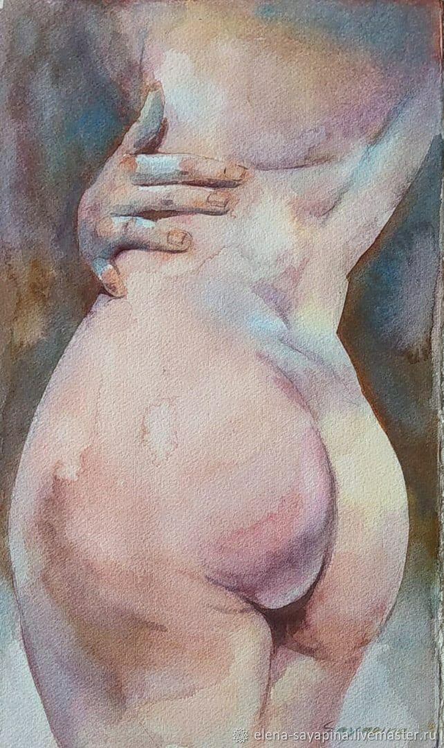 К себе нежно, акварель, 22*36 см, Картины, Санкт-Петербург,  Фото №1