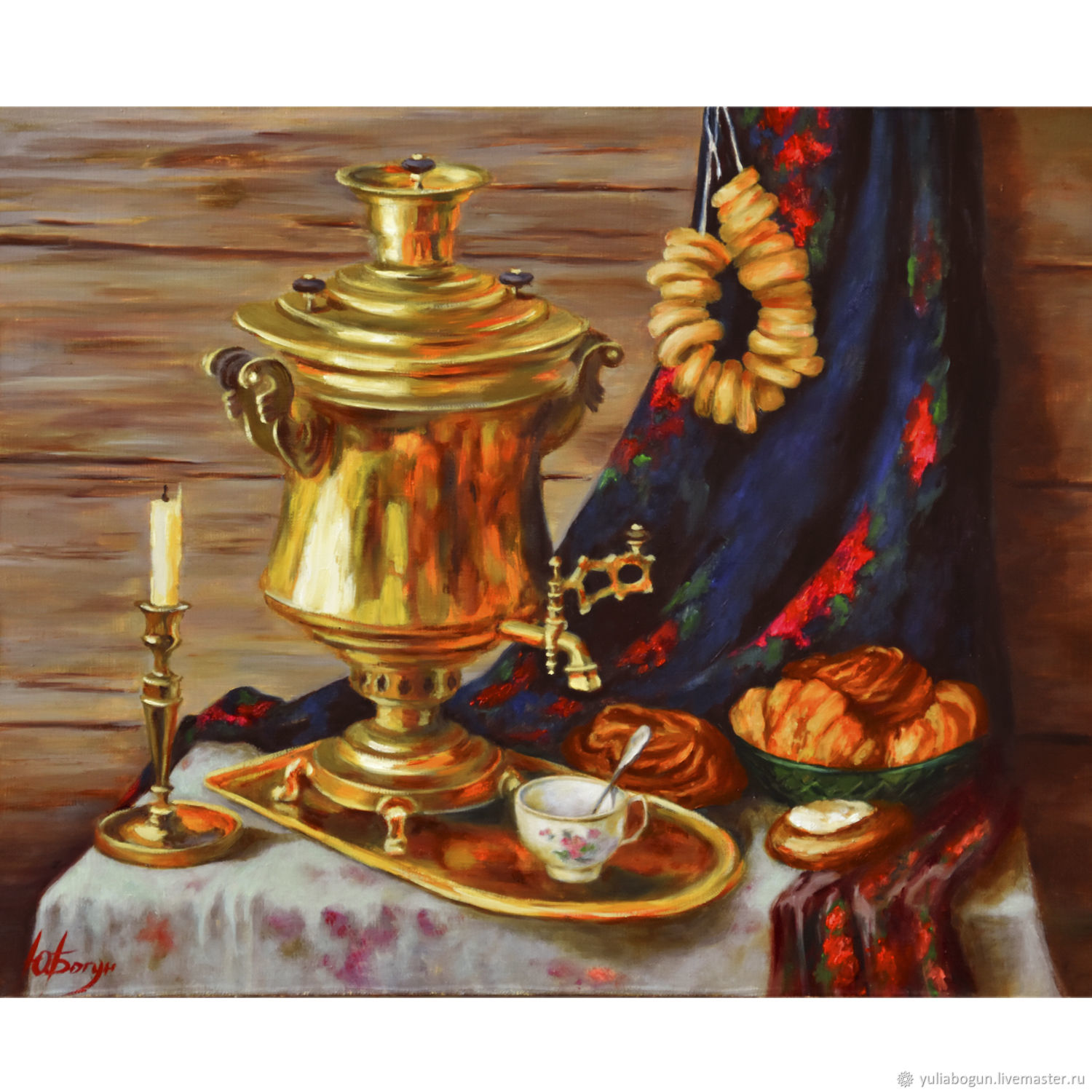 Oil painting ' Russian samovar', Pictures, Belorechensk,  Фото №1