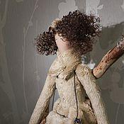 Куклы и игрушки ручной работы. Ярмарка Мастеров - ручная работа Фея в шубке и с муфтой в стиле Тильда  ПРОДАНО. Handmade.