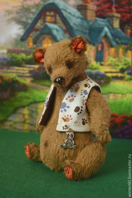Мишки Тедди ручной работы. Ярмарка Мастеров - ручная работа. Купить Серьезный Мишаня. Handmade. Коричневый, хлопок