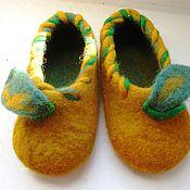 """Обувь ручной работы. Ярмарка Мастеров - ручная работа Тапки детские """"Тыковки"""". Handmade."""
